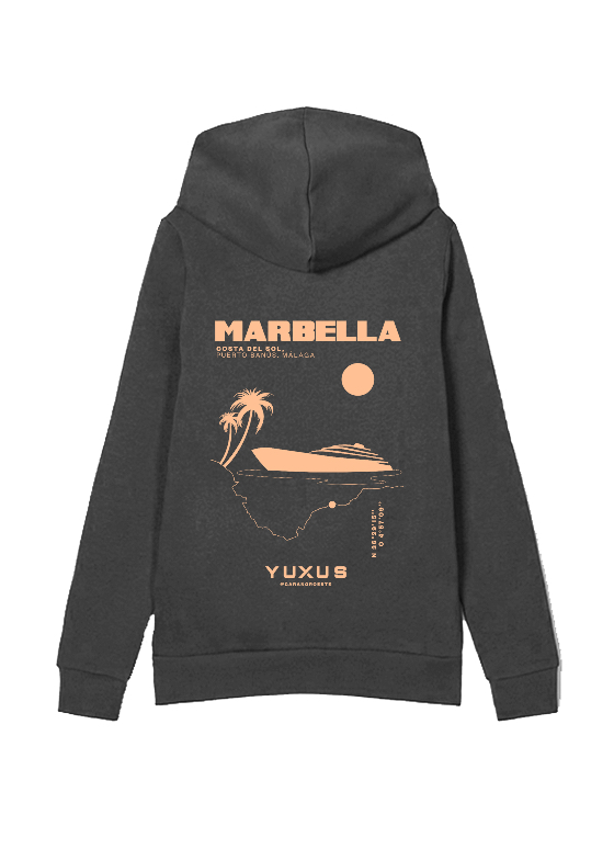 "CHARCOAL ""MARBELLA"" HOODIE"
